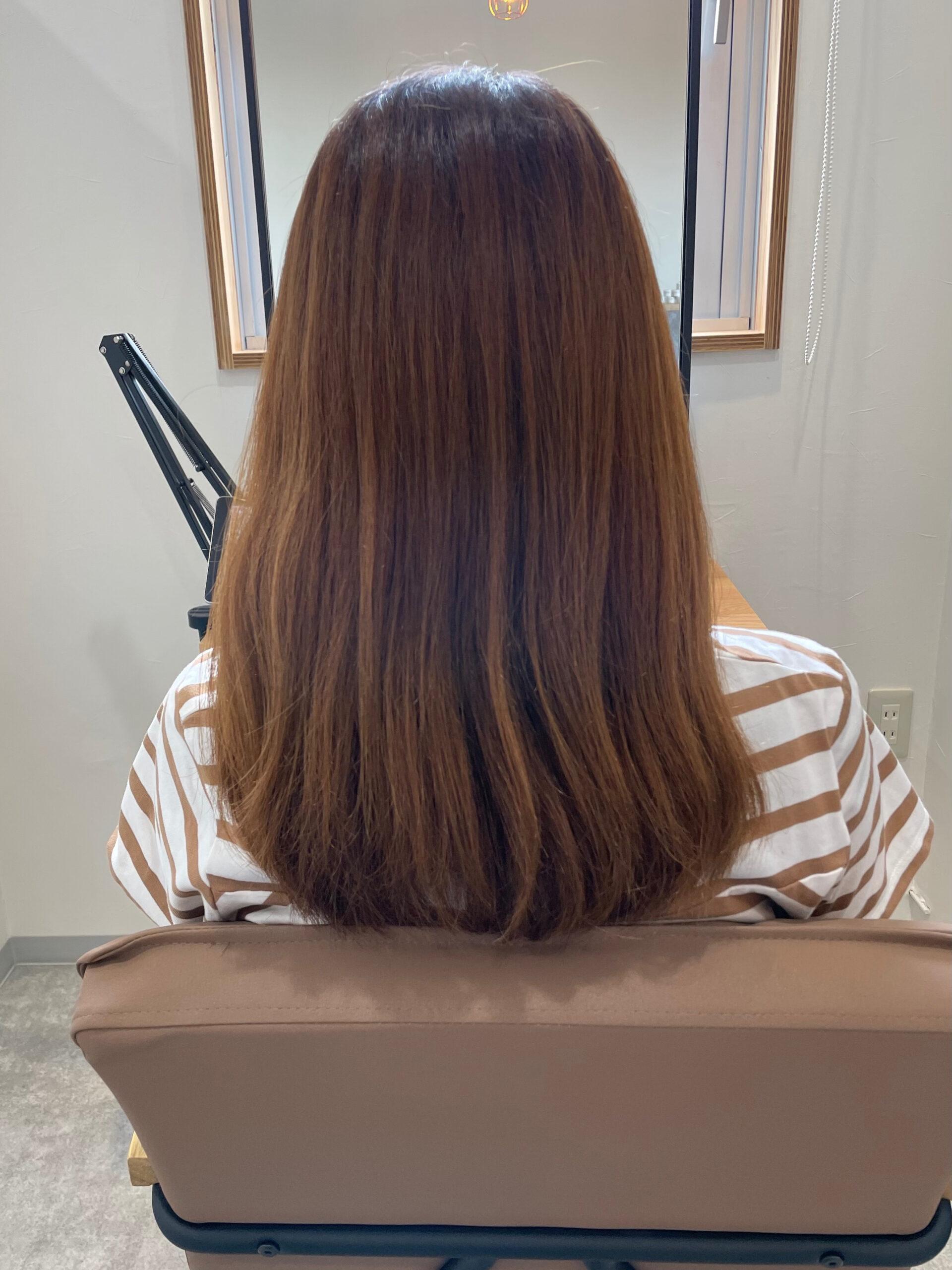 大分県別府市 弱酸性の縮毛矯正で髪質改善ストカール ビフォー