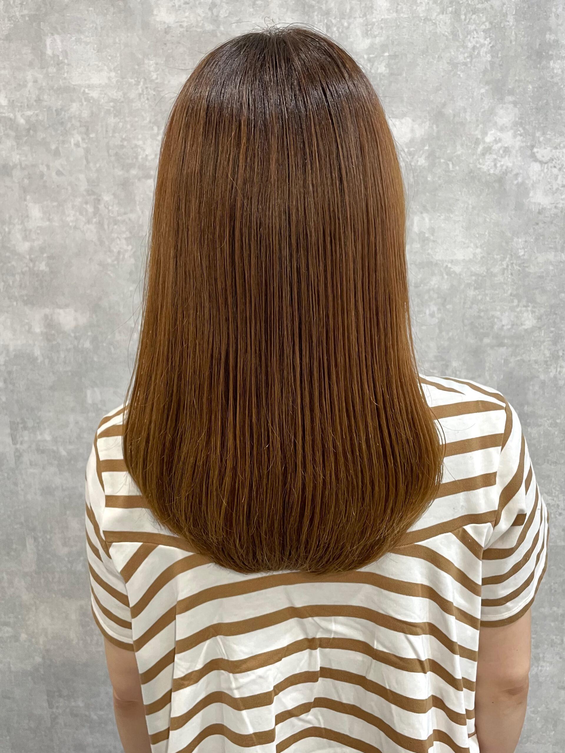 大分県別府市 弱酸性の縮毛矯正で髪質改善ストカール アフター