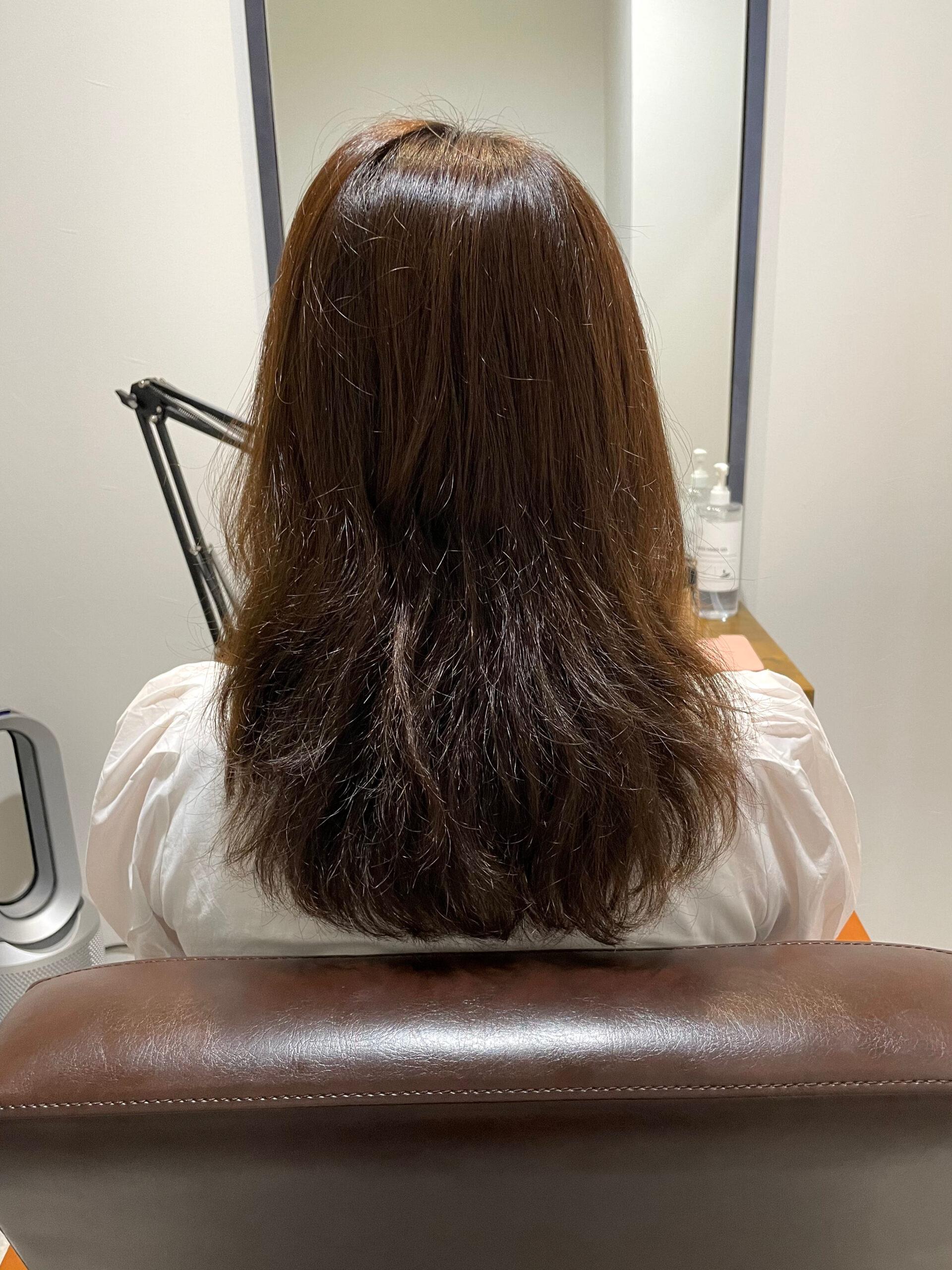 大分県別府市 髪質改善トリートメントで毛先のパサパサを解消! ビフォー