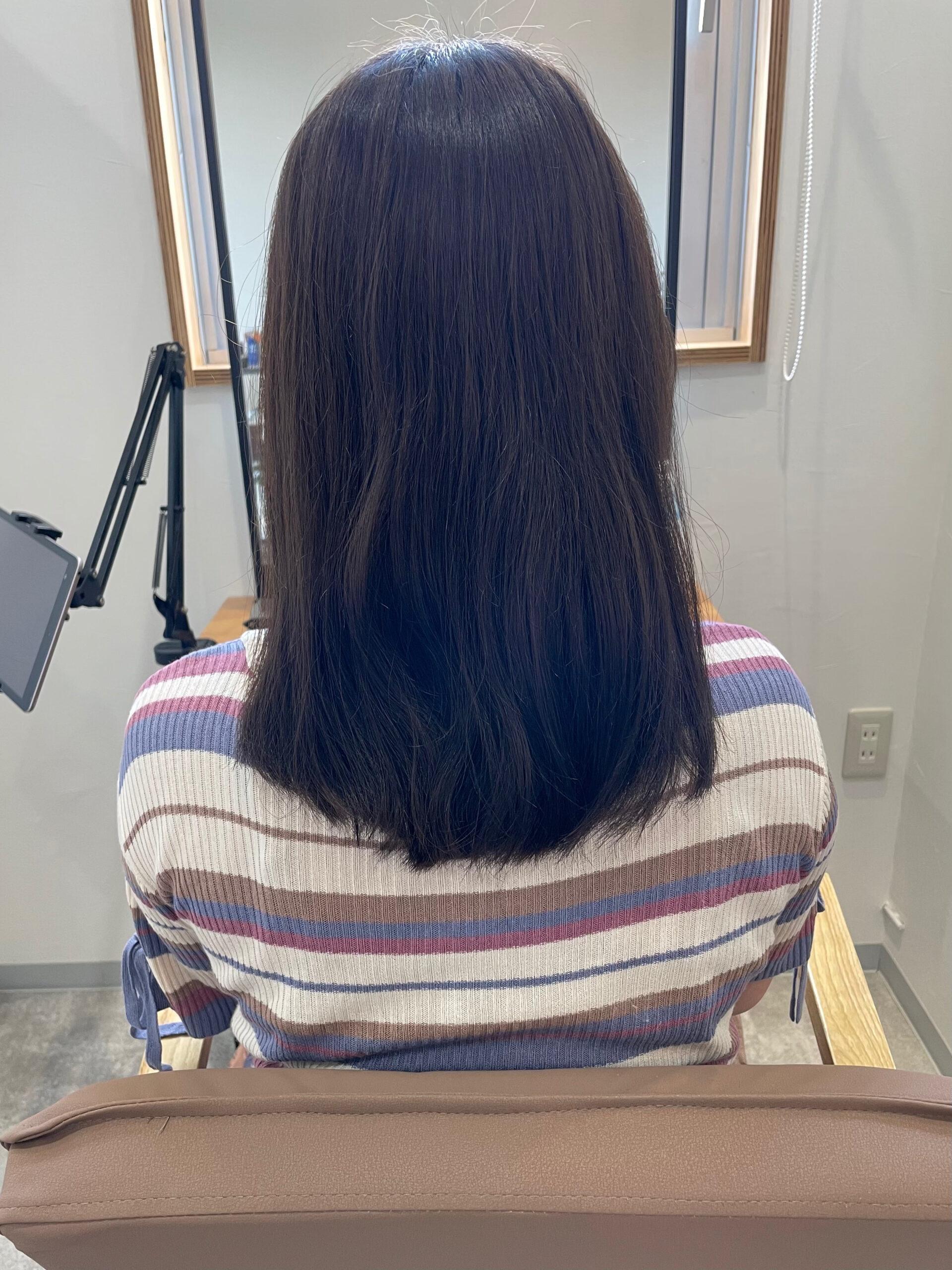 新しく進化した髪質改善トリートメントで艶髪カラー ビフォー