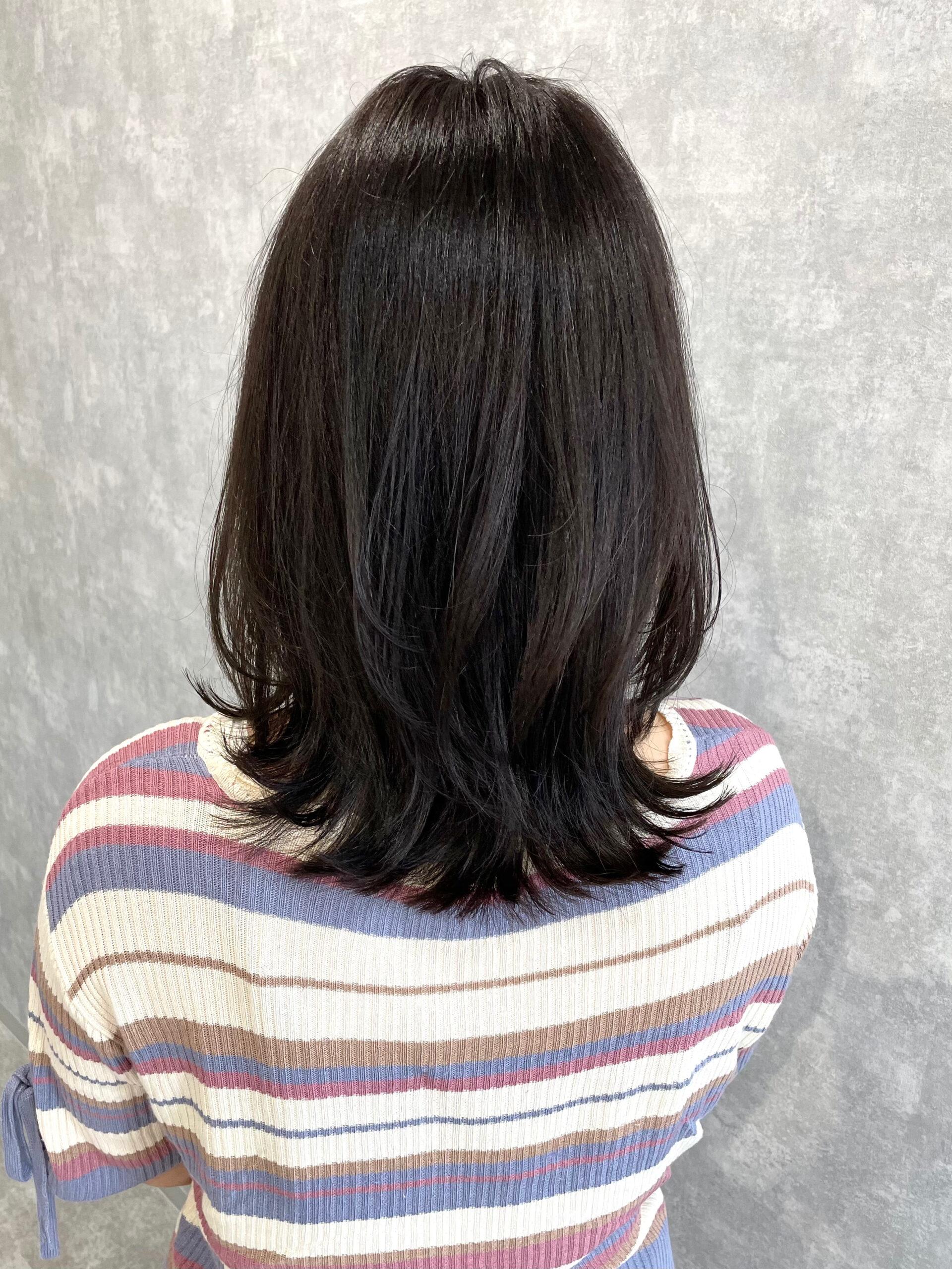大分県別府市 新しく進化した髪質改善トリートメントで艶髪カラー アフター