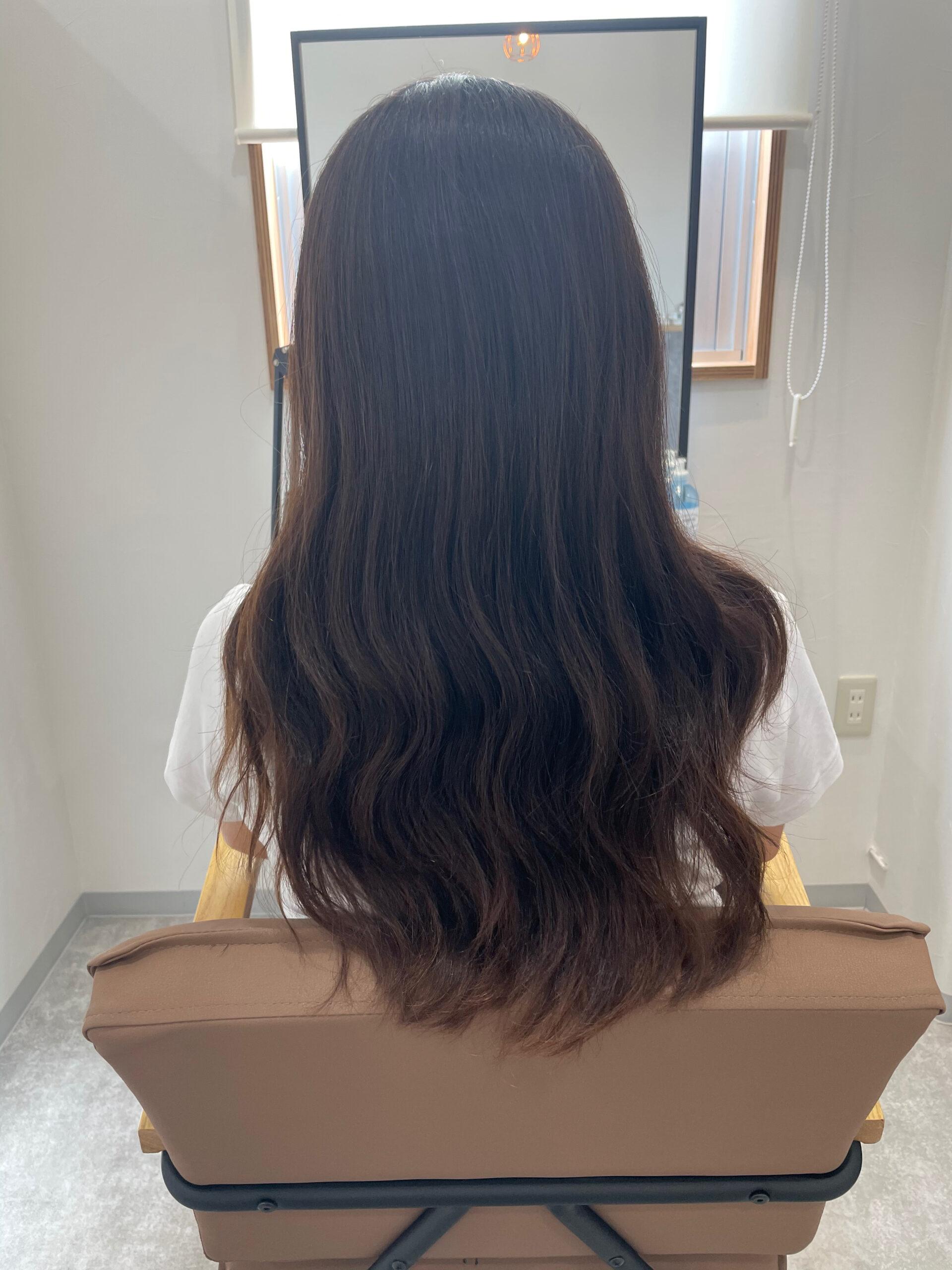 大分県別府市 髪質改善トリートメントで艶髪カラー『オリーブアッシュ』 ビフォー