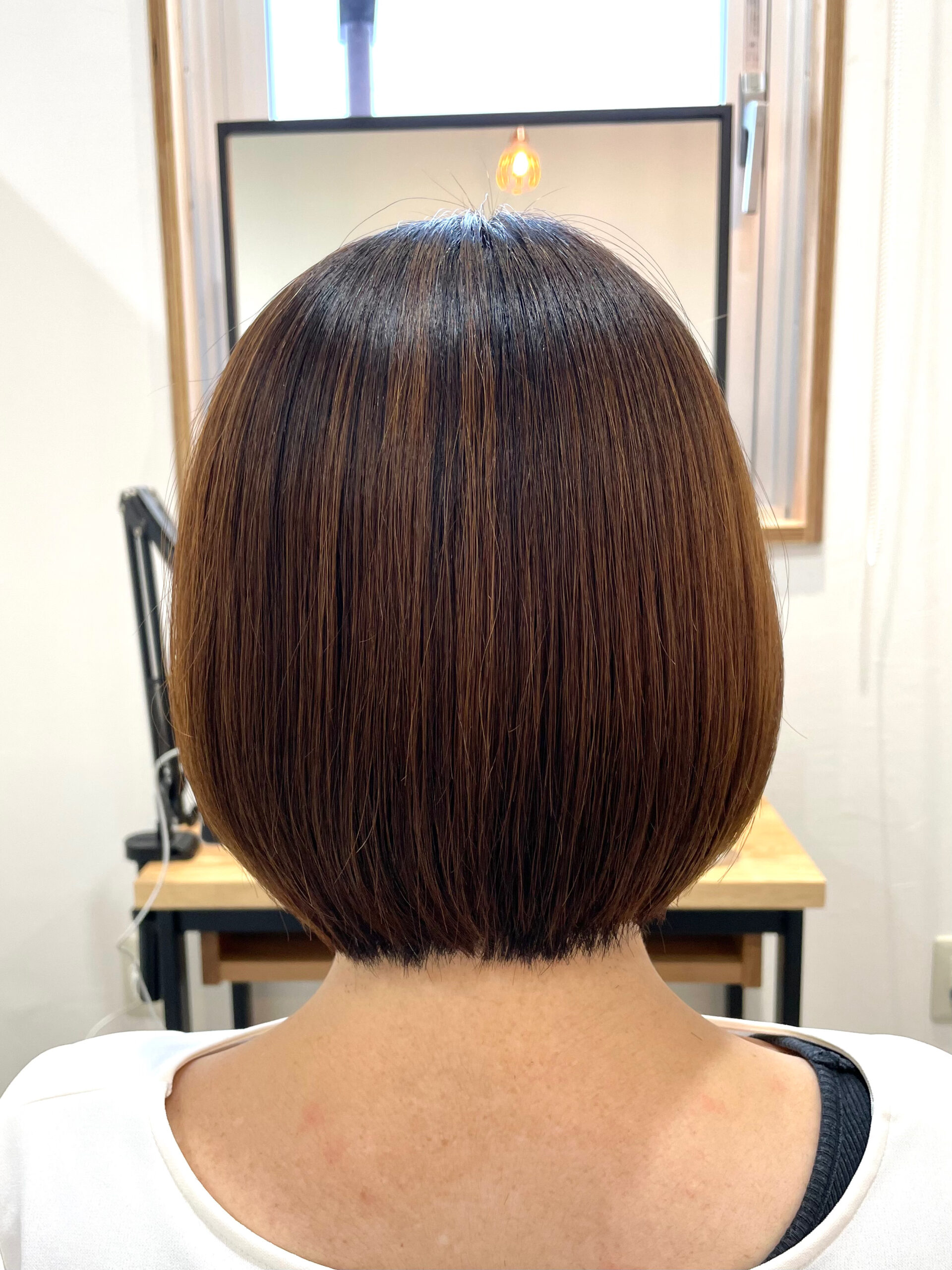 大分県別府市 髪質改善の弱酸性ストレートで自然なボブスタイル アフター