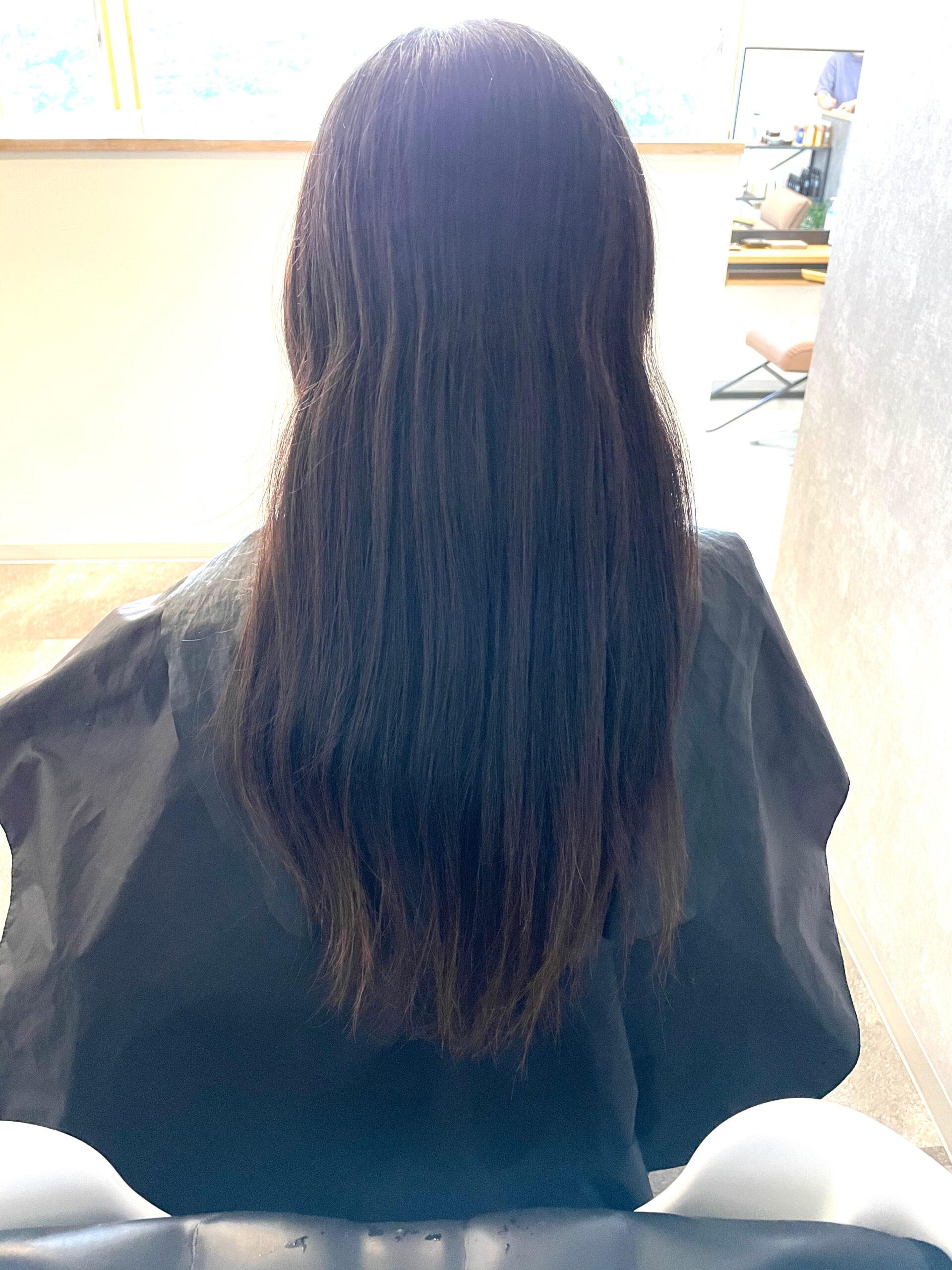 大分県別府市 髪質改善トリートメントでツヤツヤ、サラサラ、扱いやすい髪質に ビフォー