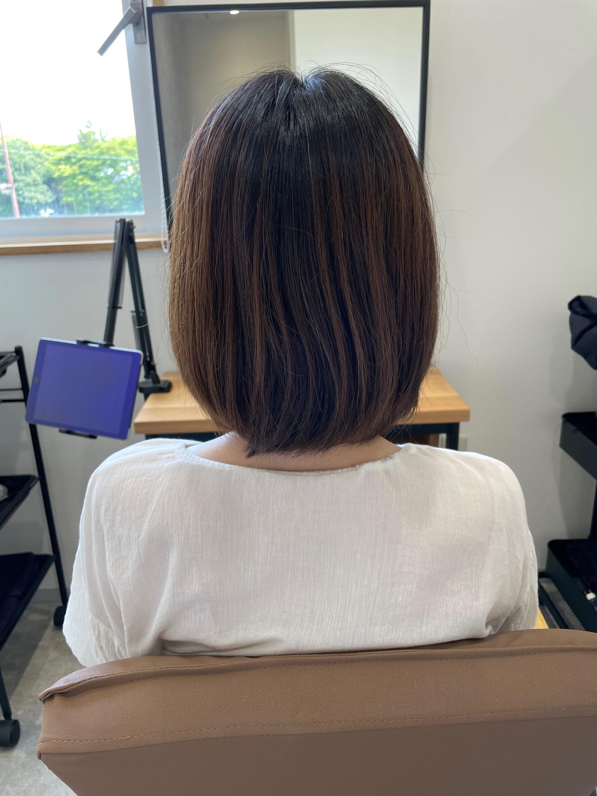 大分県別府市 透明感のある髪質改善艶髪カラー『ベージュ』 ビフォー