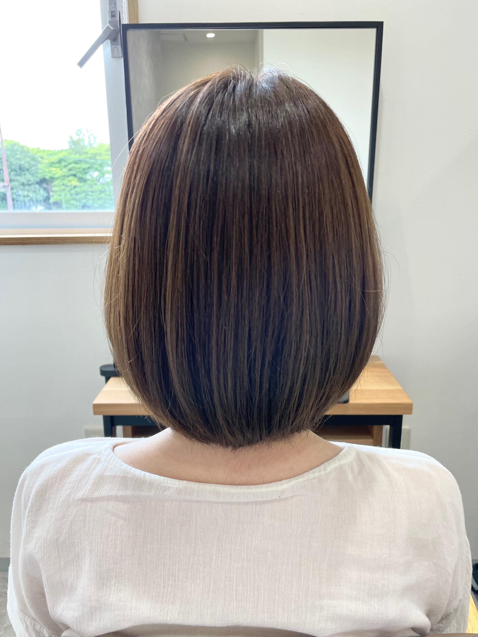 大分県別府市 透明感のある髪質改善艶髪カラー『ベージュ』 アフター