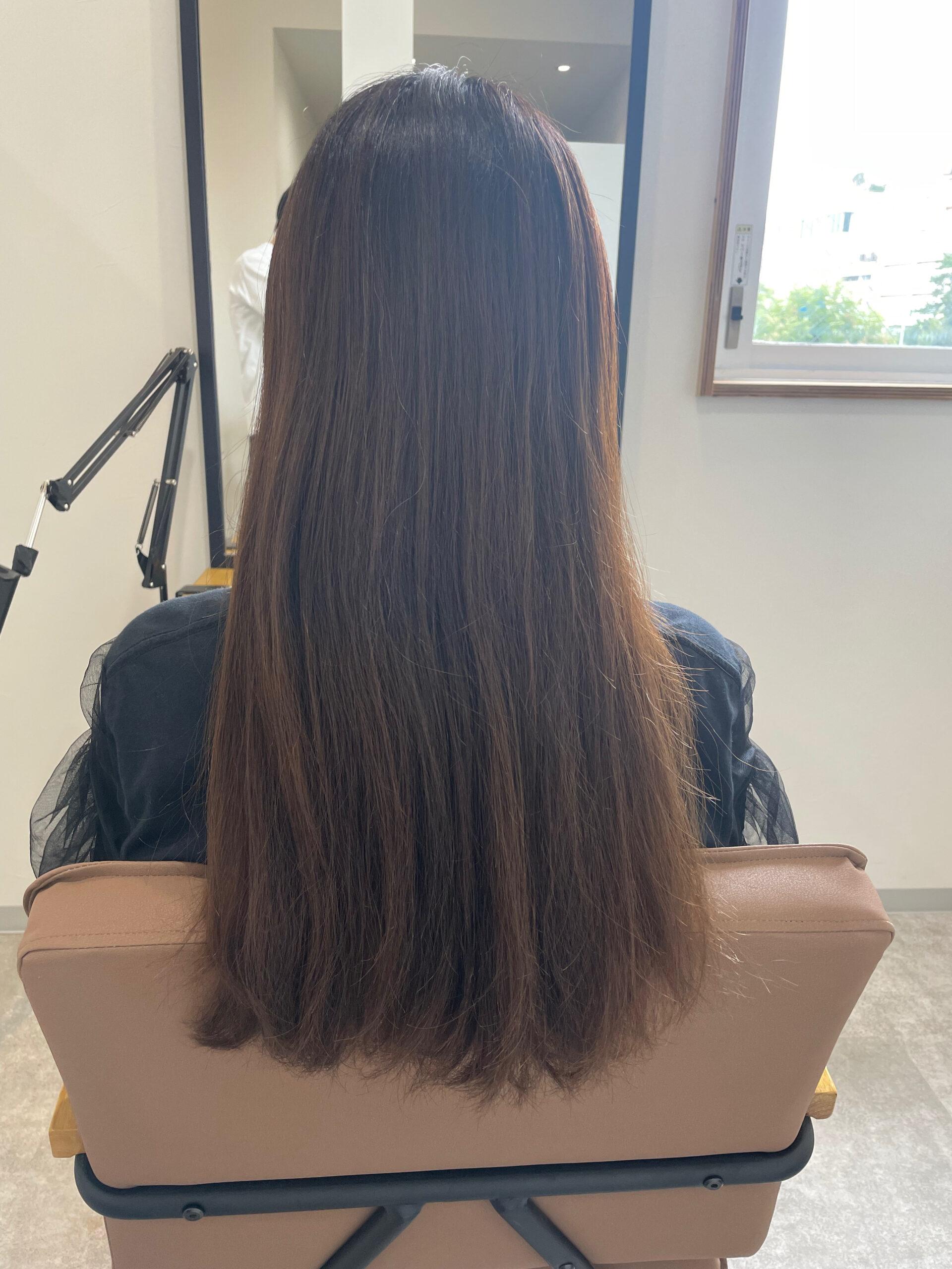 大分県別府市 髪質改善ツヤ髪ヘアカラー ビフォー