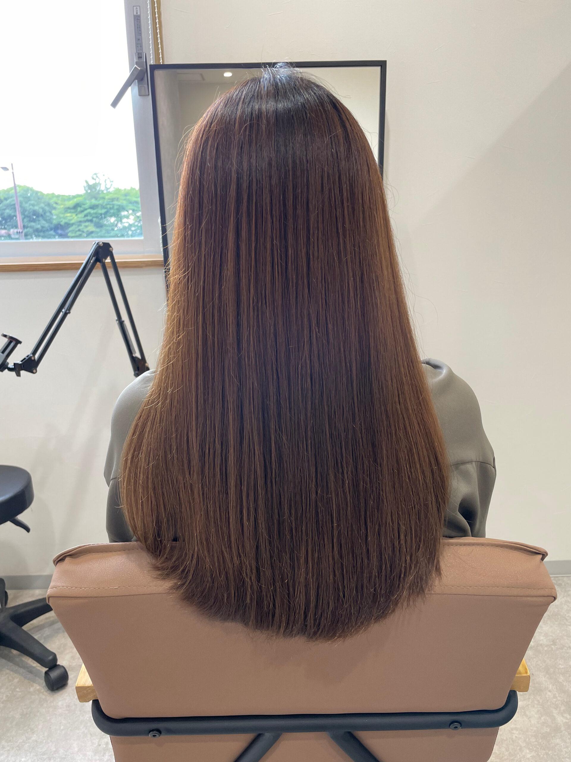 大分県別府市 新しくなった髪質改善トリートメントとカラーの組み合わせで艶髪カラー ビフォー