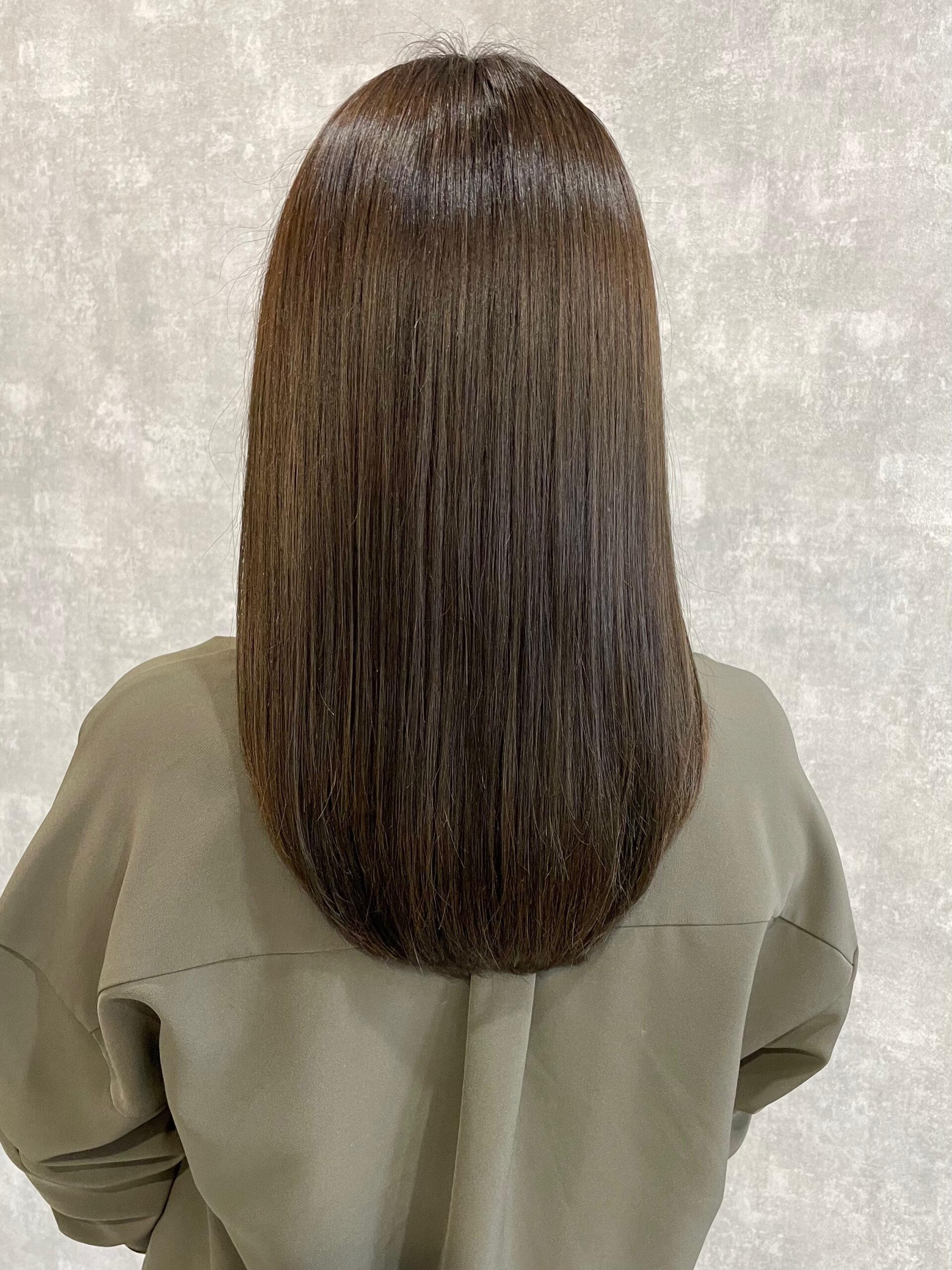 大分県別府市 新しくなった髪質改善トリートメントとカラーの組み合わせで艶髪カラー アフター