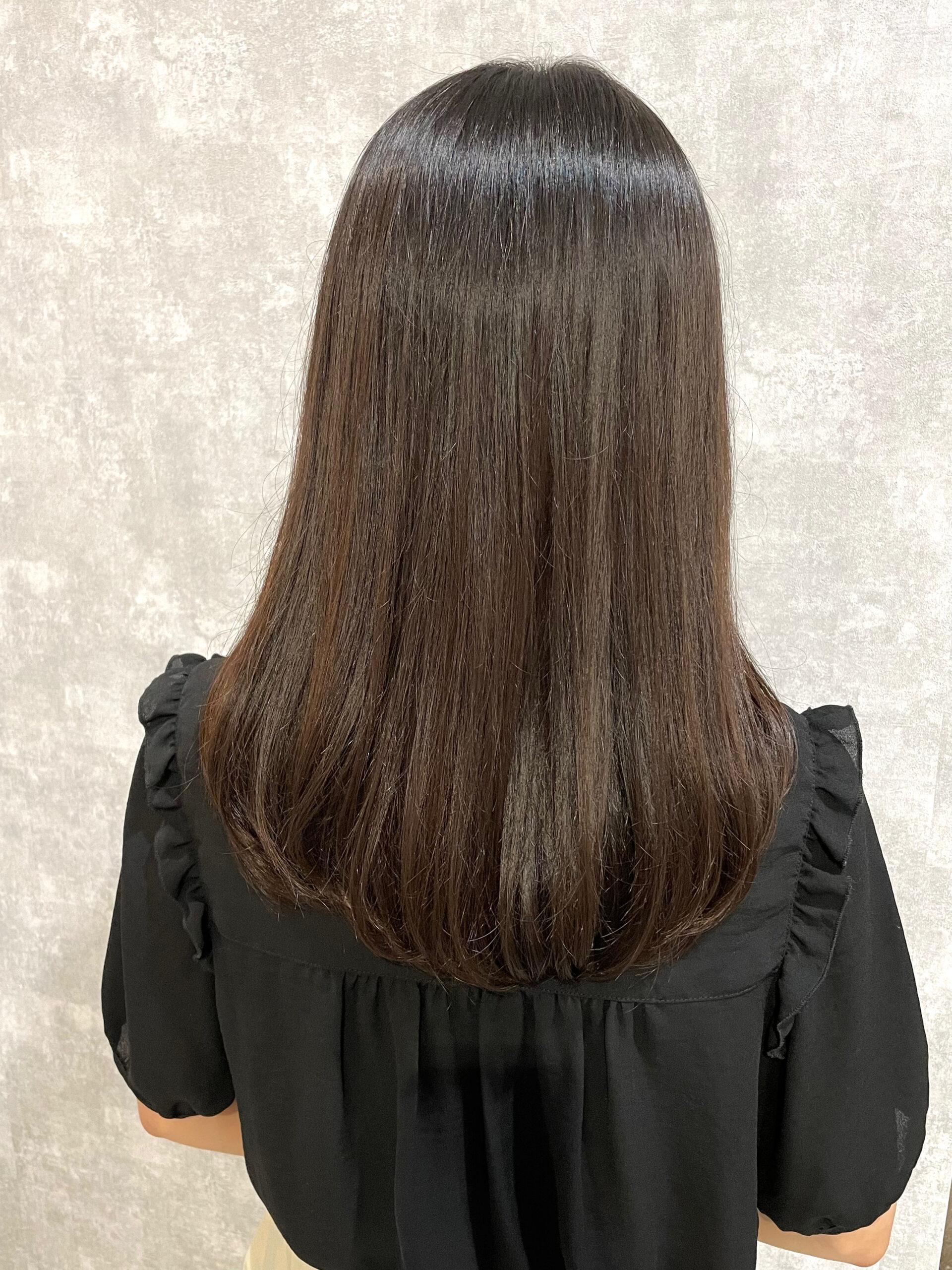 大分県別府市 弱酸性ストカールでくせ毛を扱いやすいワンカールに アフター