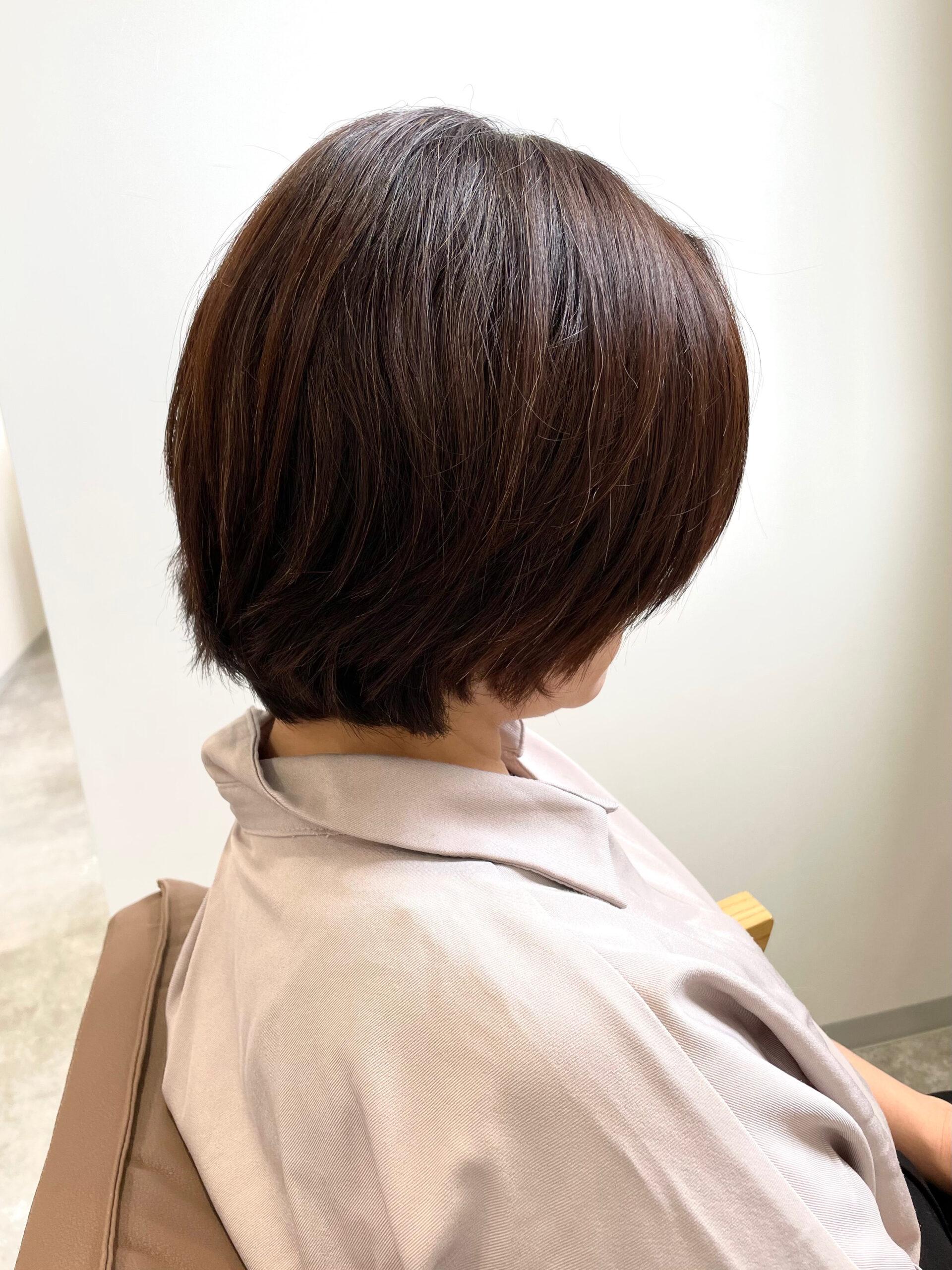 大分県別府市 重たくなった髪の毛をカットで軽い印象にフォルムチェンジ『くびれショート』 ビフォー