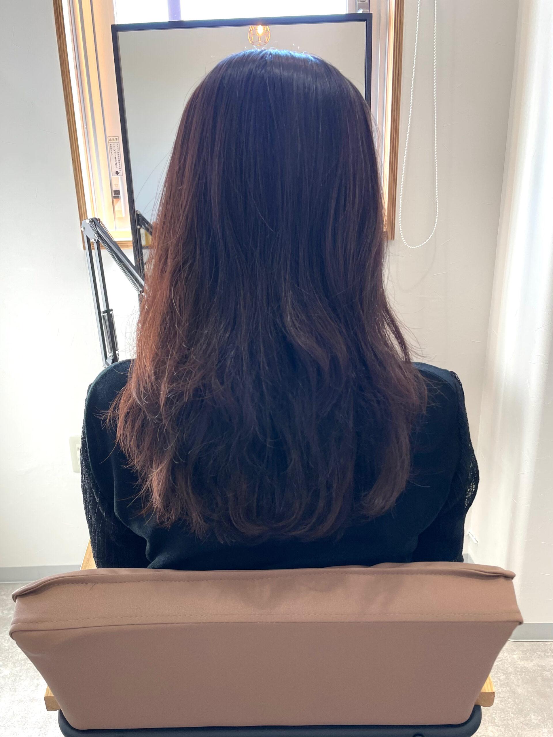 大分県別府市 髪質改善トリートメントで毛先のパサつきを綺麗に ビフォー