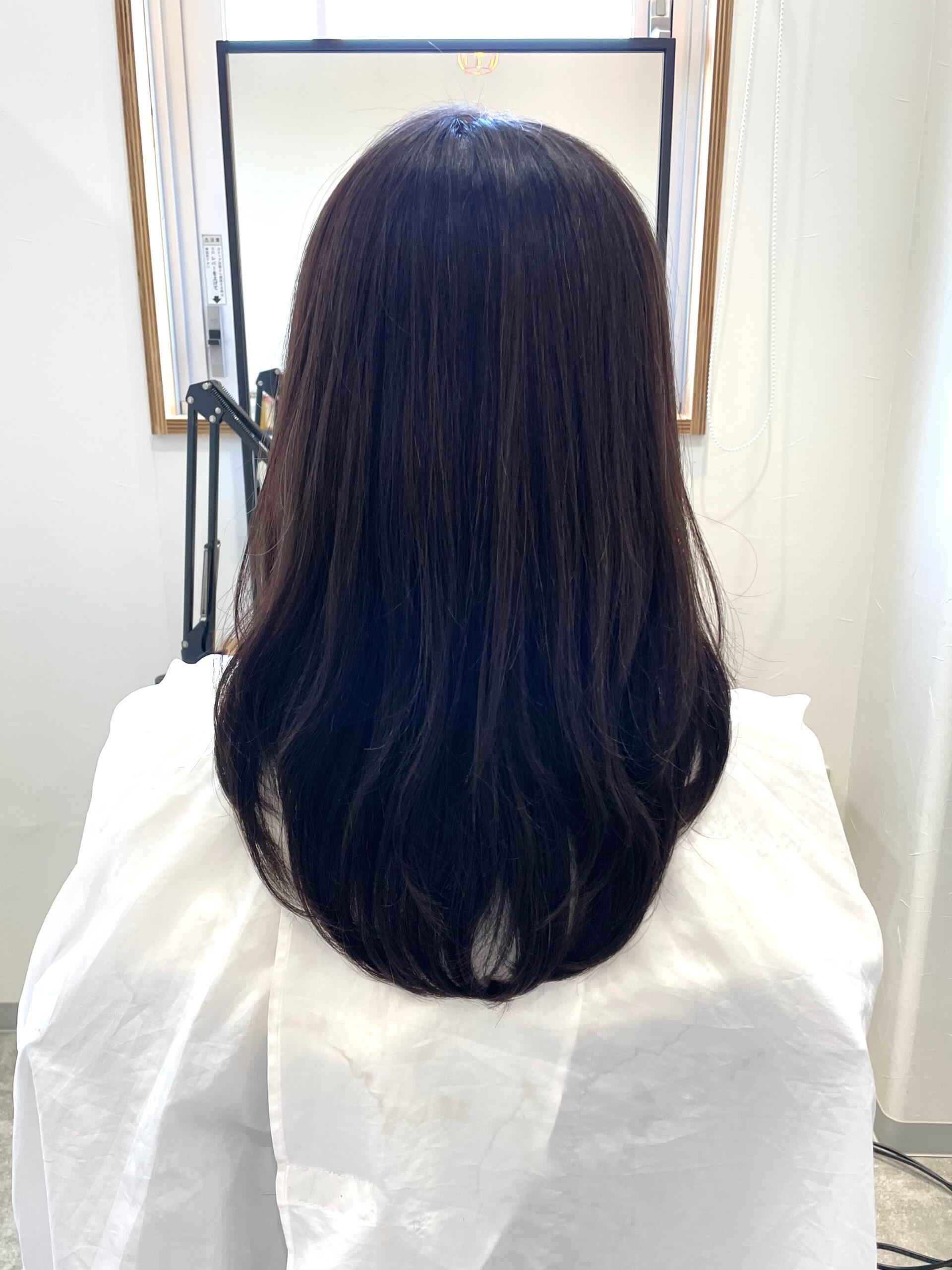 大分県別府市 髪質改善トリートメントで毛先のパサつきを綺麗に アフター