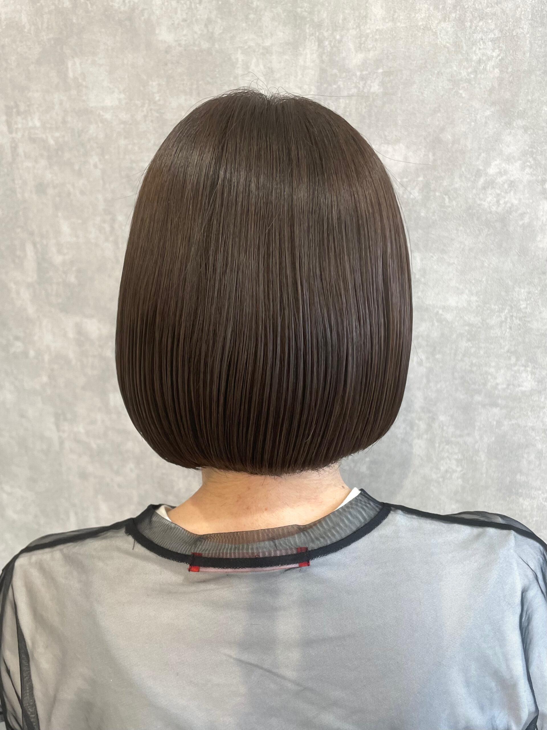 大分県別府市 髪質改善トリートメントでツヤ髪カラー アフター